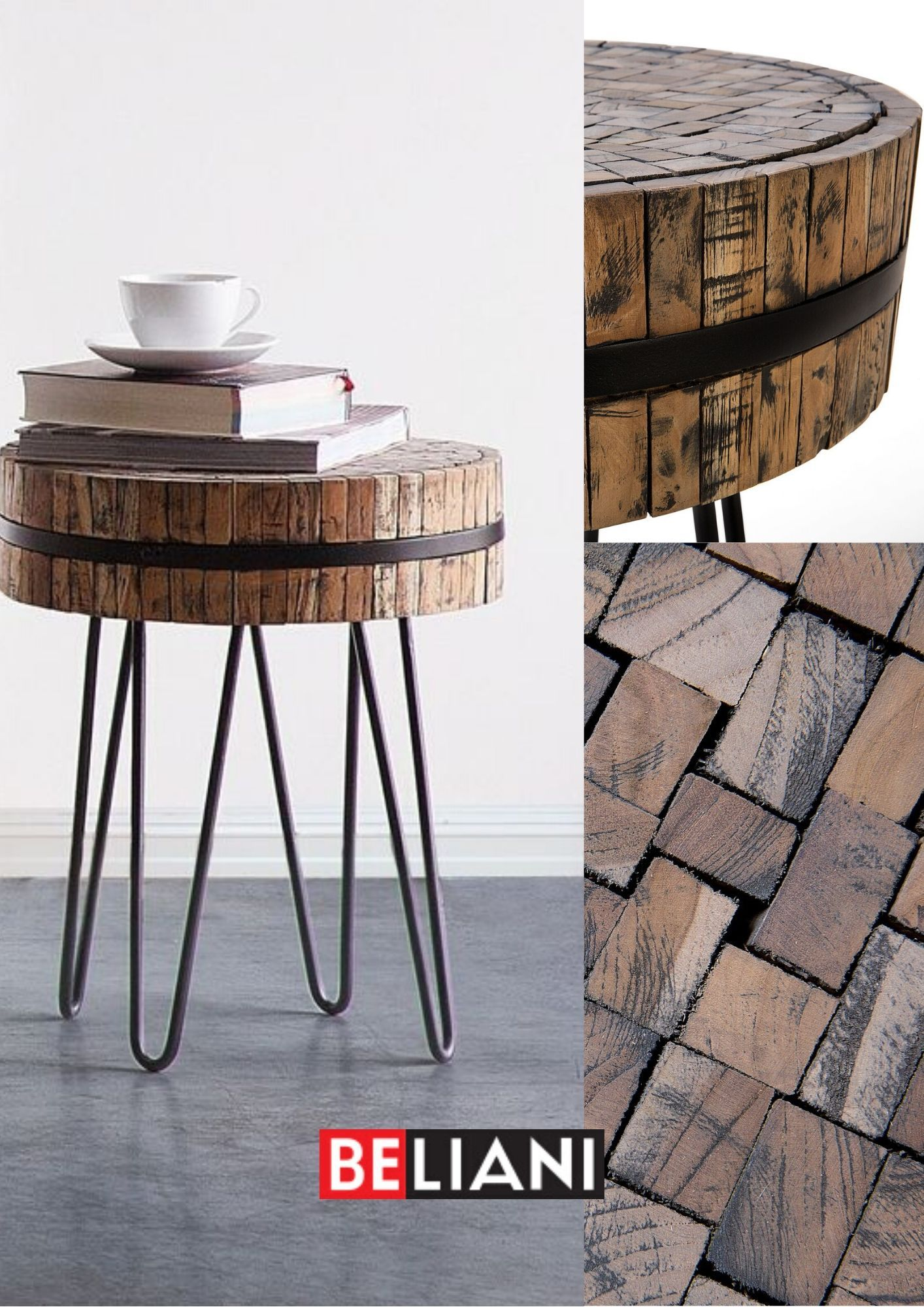 Couchtisch Holz Rund O 55 Cm Taku In 2020 Table Decor Home Decor
