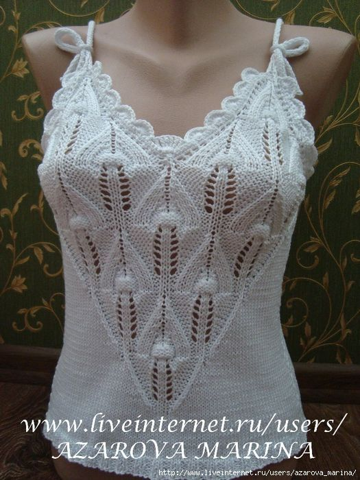 blusas tejidas con dos agujas | Blusitas de agujas | Pinterest