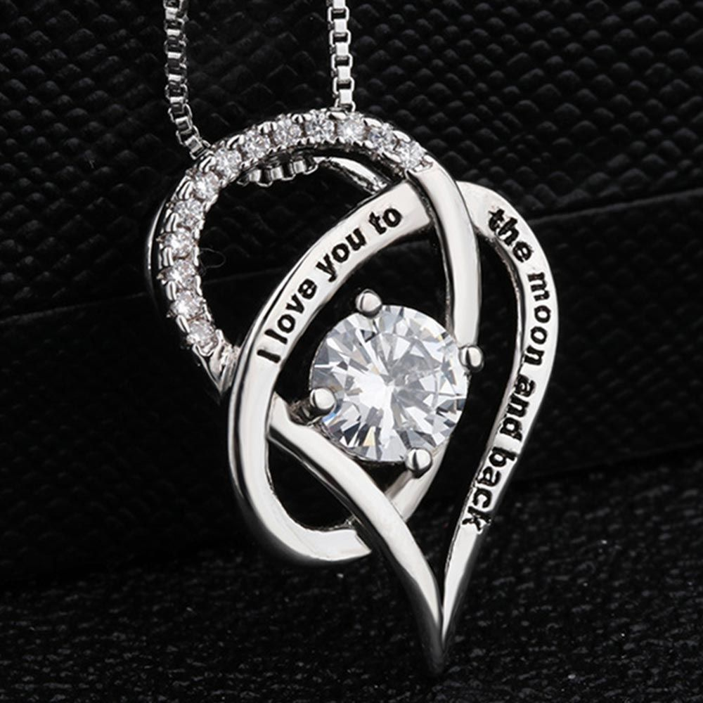 I Love You to The Moon and Back Necklace Lover Romantic
