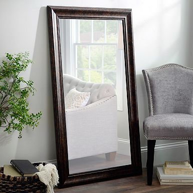 Bronze Rope Framed Wall Mirror, 31x55 in | Stylish wall ... on Floor Mirrors Decorative Kirklands id=18031