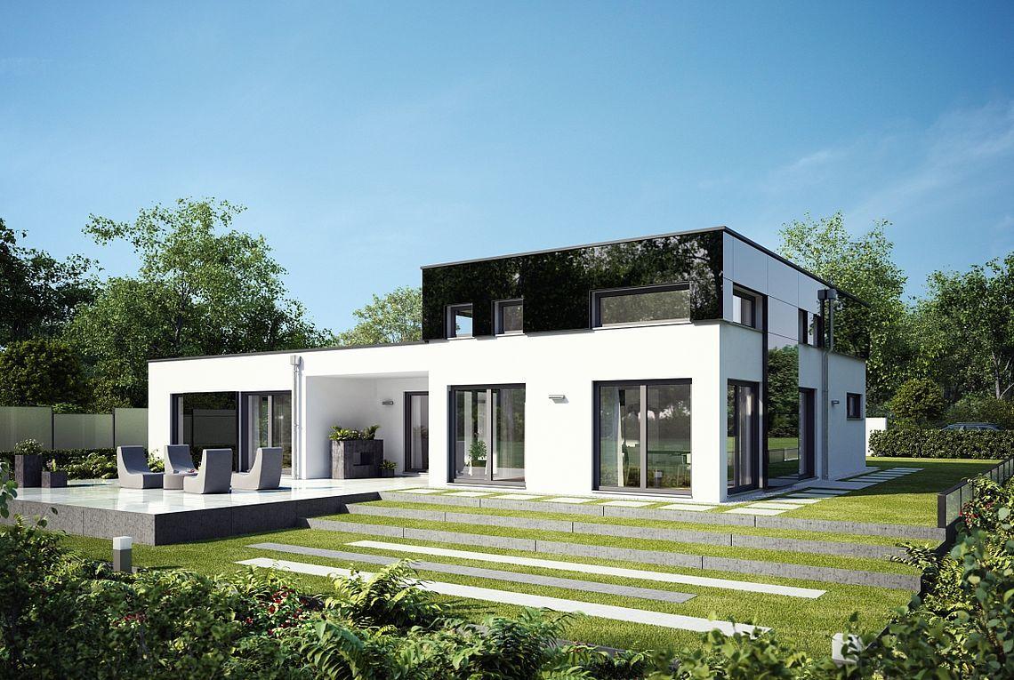 Fertighaus Doppelhaus Sh 122 Dhh Haus Bauen Modern Bungalow