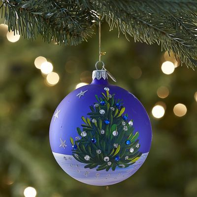 European Glass Blue Tree Ornament Ball Pier 1 Pinterest