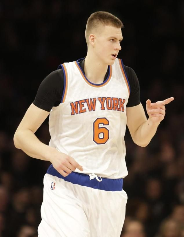 4604a861e Kristaps Porzingis jumps up to fourth in NBA jersey sales. January 21