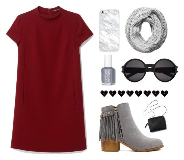 """""""50 Shades of Gray"""" by sydddneysmith on Polyvore featuring Theory, Pieces, Yves Saint Laurent and Essie"""
