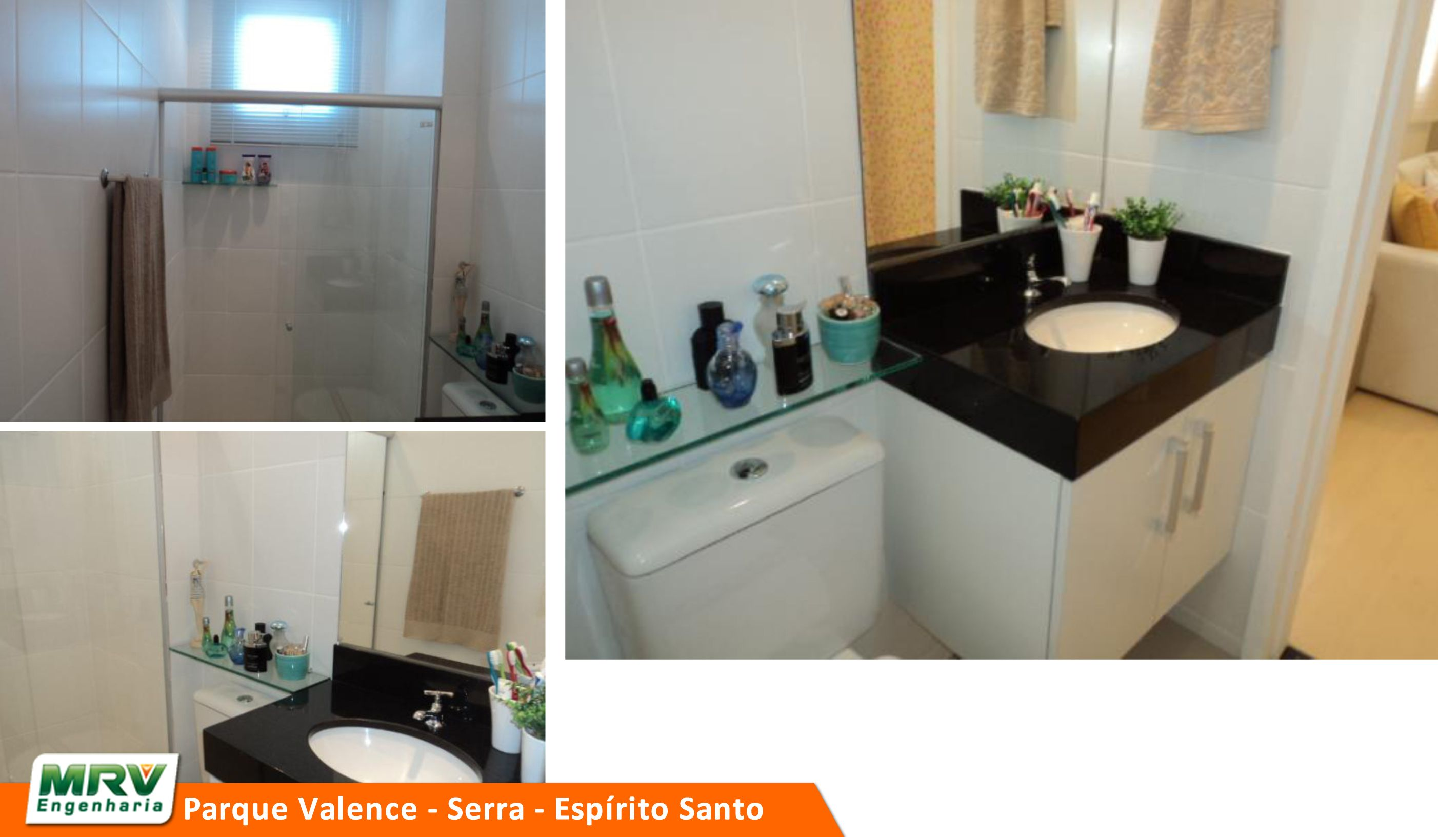 Apartamento decorado 2 quartos do Parque Valence no bairro Carapebus  Serra  -> Banheiro Planejado Mrv