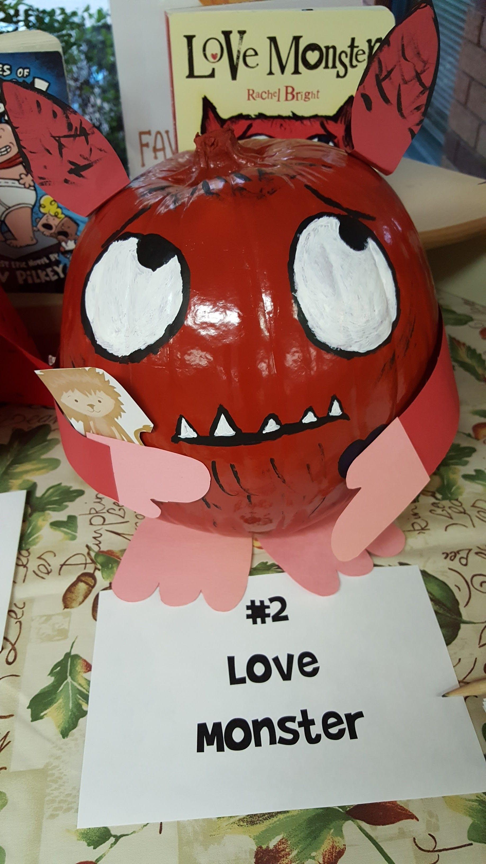 Love Monster Themed Pumpkin Love Monster Pumpkin Decorating Book Themes