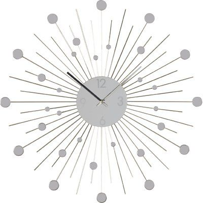 Sleek And Sophisticated The Calvet Wall Clock Brings A Modern Touch To Any Wall Of Any Room And Makes For A Mini Wall Clock Clock Wall Decor Black Wall Clock