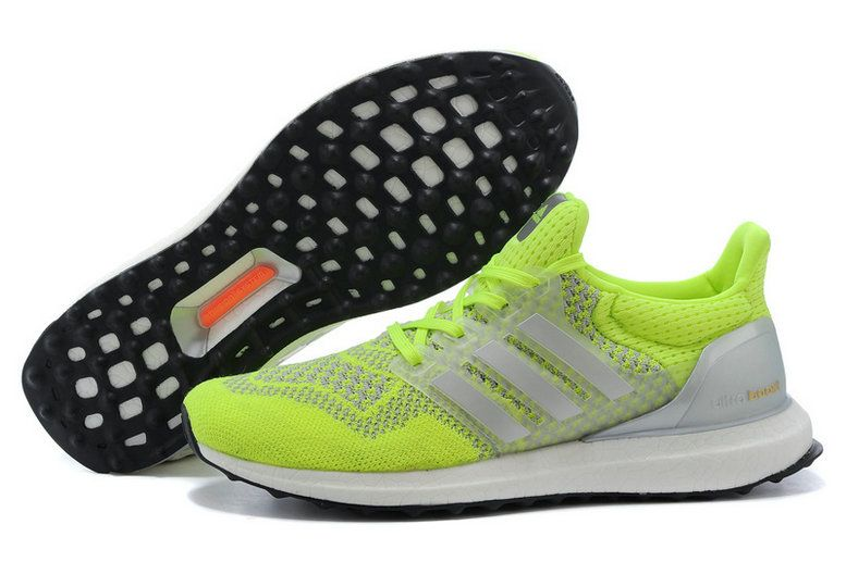 1e260b9c1 adidas Ultra Boost 2016-2017 Volt Lime Green Pure Platinum Black UK  Trainers 2017 Running Shoes 2017