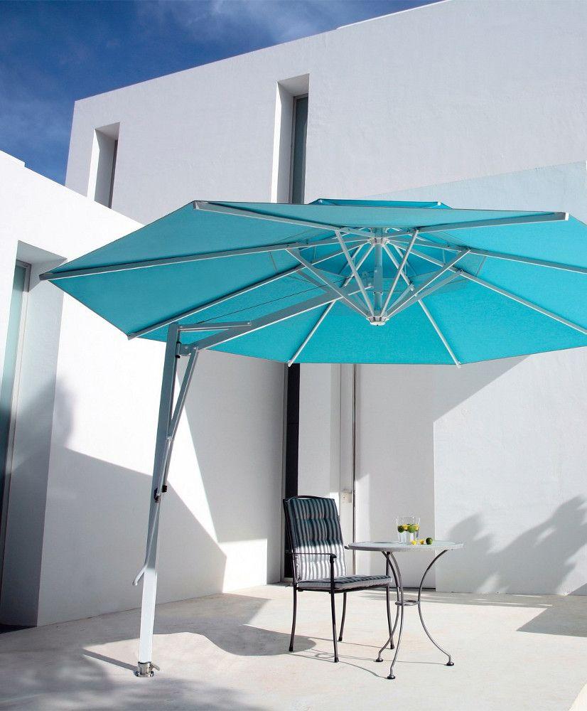 Offset Adjustable Round Garden Umbrella Belvedere By Michael  # Muebles Jesus Santiago Ribeira
