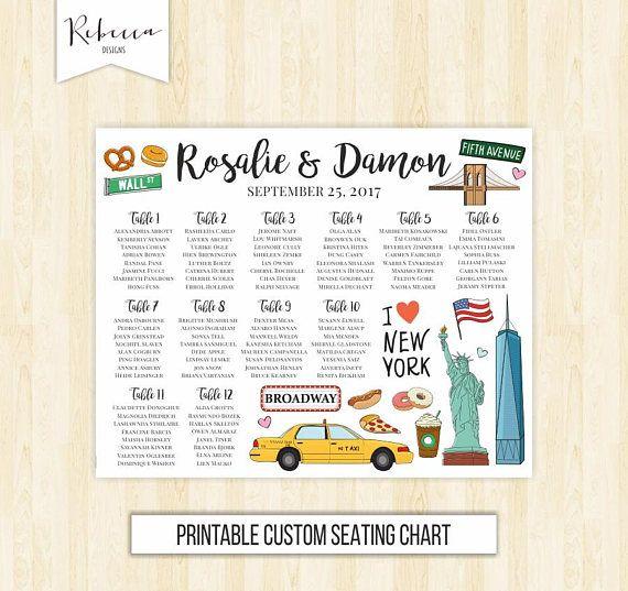 New York seating chart printable seating chart New York Wedding - free printable seating chart
