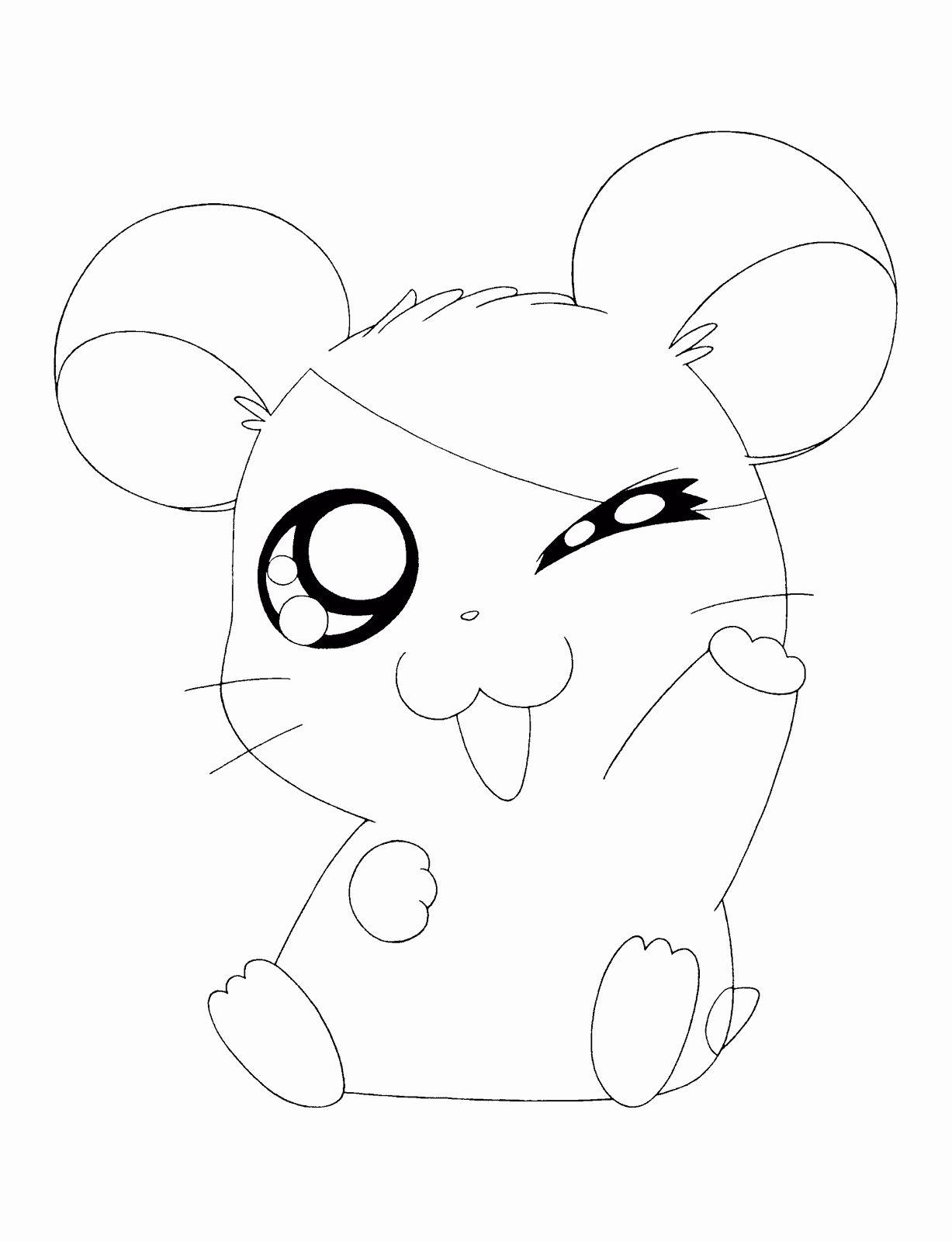 Cute Animal Coloring Page New Hamtaro Cute Animals Coloring Pages In 2020 Cute Coloring Pages Animal Coloring Books Dinosaur Coloring Pages