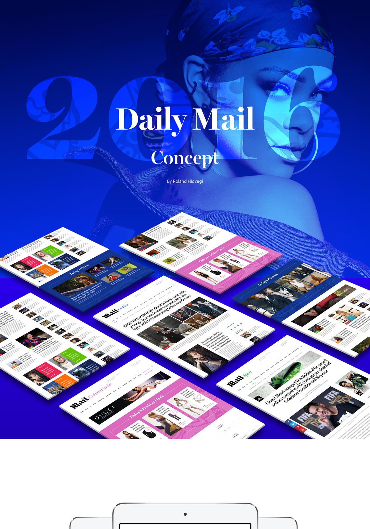 Daily Mail Redesign Concept on App Design Served