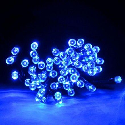 Guirlande LED solaire 30m Bleu 300 led - Guirlandes solaires - Aménagement extérieur