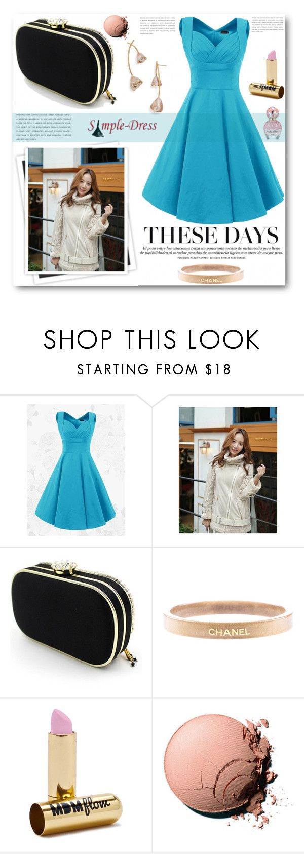 """""""simple-dress"""" by angelstar92 ❤ liked on Polyvore featuring GALA, Chanel, MDMflow, Marc Jacobs, vintage, fab, dress and simpledress"""