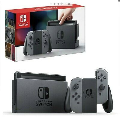Nintendo Switch 32GB Console with Grey JoyCon FREE