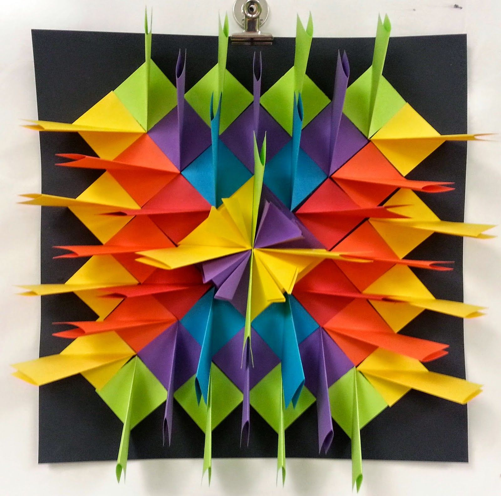 Art With Ms Gram Radial Paper Relief Sculptures 4th 5th Classroom Art Projects Homeschool Art Elementary Art