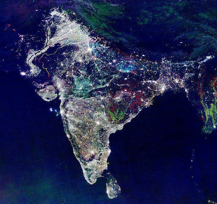 India as seen from the international space station on the festive india as seen from the international space station on the festive season of diwali gumiabroncs Choice Image