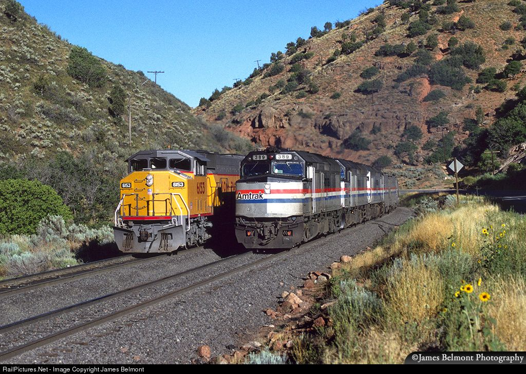 RailPictures.Net Photo: AMTK 389 Amtrak EMD F40PH at Red Narrows, Utah by James Belmont