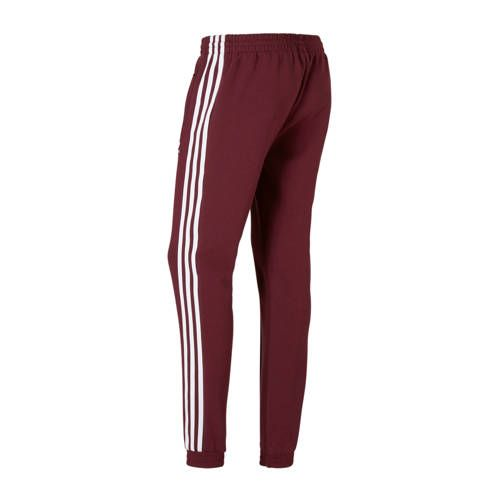 adidas Originals sportbroek bordeaux rood - Sportbroek ...