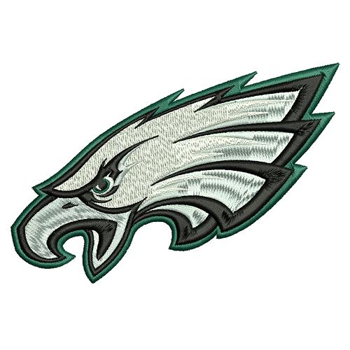 Philadelphia Eagles machine embroidery design- 4x4, 5x7, 6x10 hoops ...
