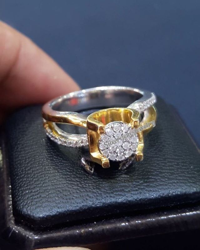 Round Diamond 14k Two Tone Gold Over 925 Silver Las Engagement Wedding Ring