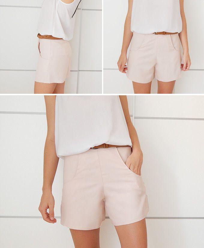diy-short-con-bolsillos … | Patrones de pantalón | Pinte…