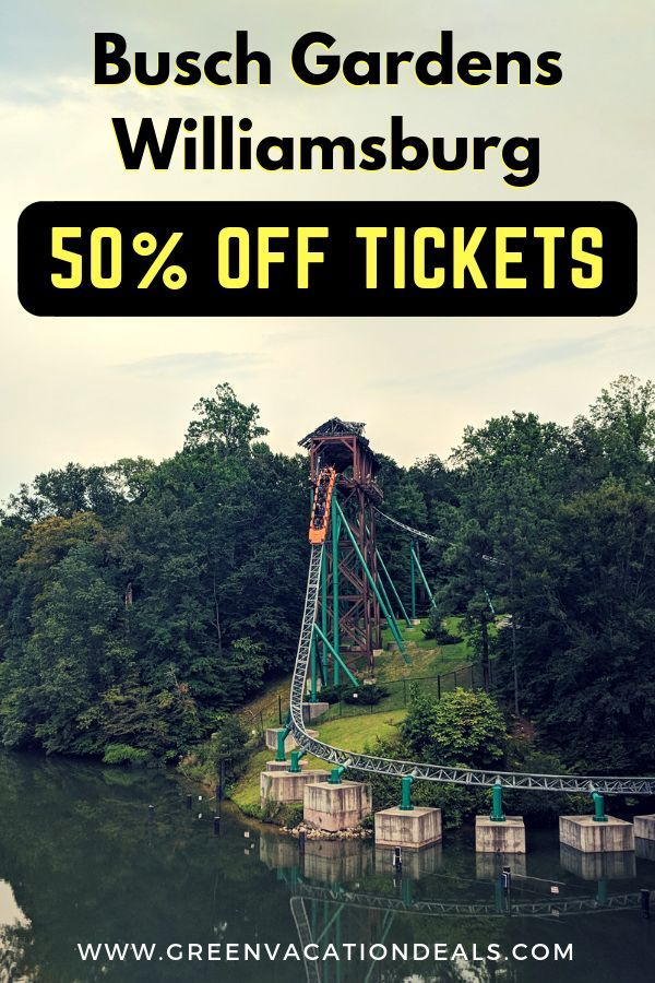 Busch Gardens Williamsburg Flash Sale 50 Off Tickets