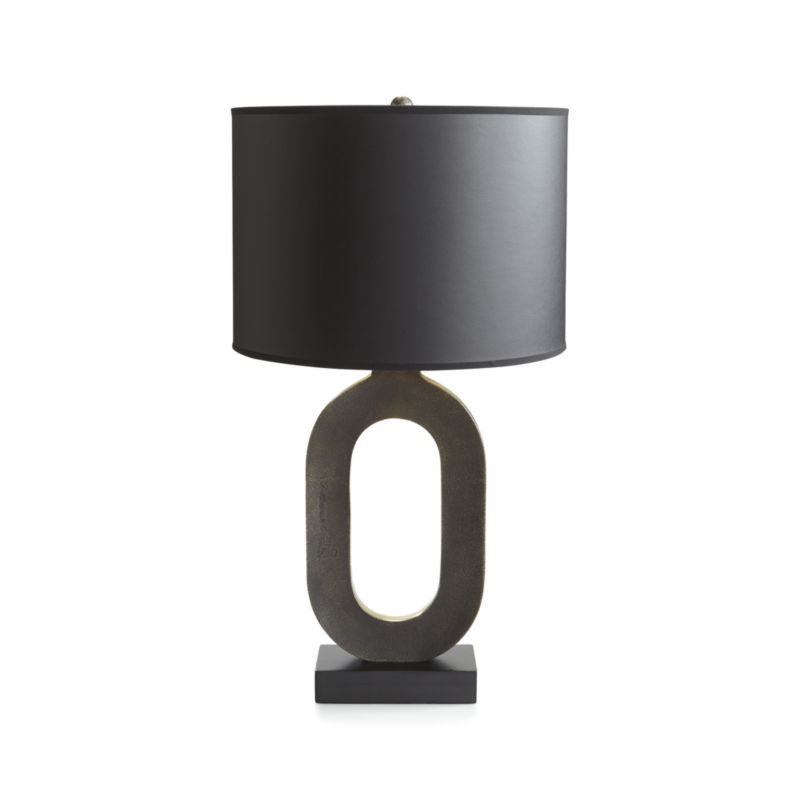 Crest Gold Table Lamp With Black Shade Crate And Barrel Black Table Lamps Gold Lamp Lamp
