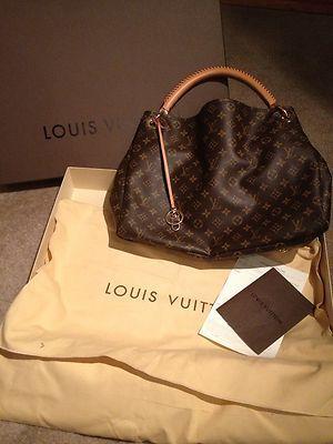 514385c1019c 100% Authentic Louis Vuitton Artsy MM Monogram Shoulder Tote Bag ...