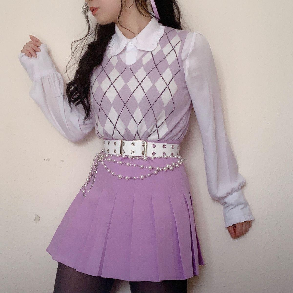 Purple In 2021 Purple Outfits Kawaii Fashion Outfits Kpop Outfits [ 1200 x 1200 Pixel ]