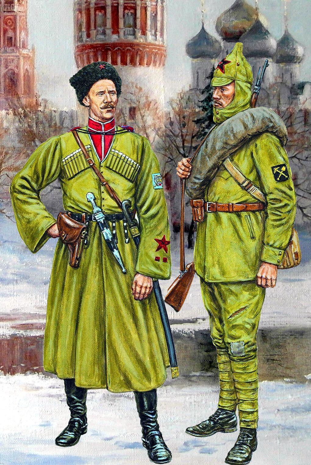 Miembros de la 10ª División de Caballería del Kubán, que se unieron ...