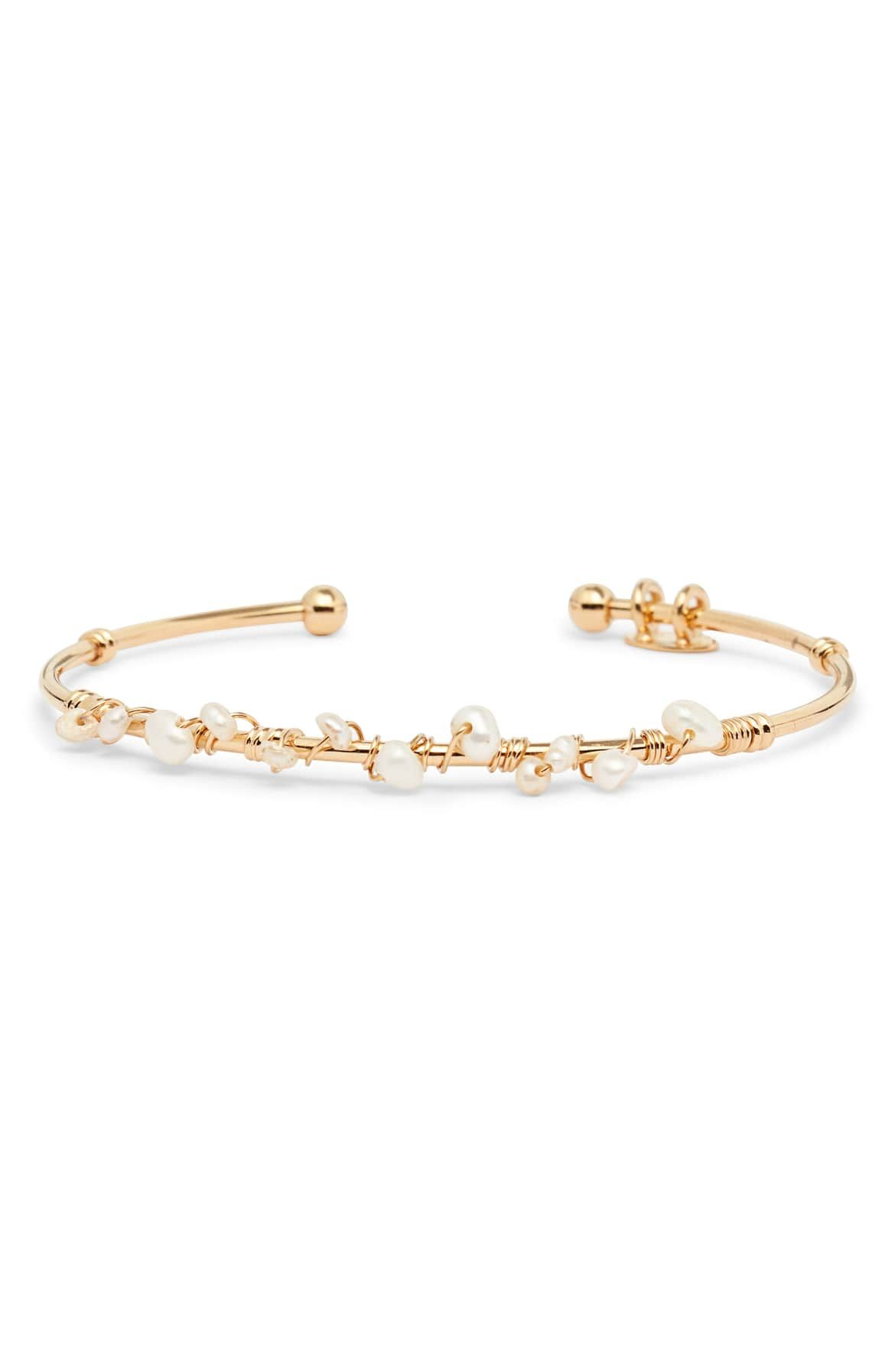 664c4bef81c176 Calliope Cuff Bracelet, Main, color, WHITE/ GOLD | Wantable, Stitch ...
