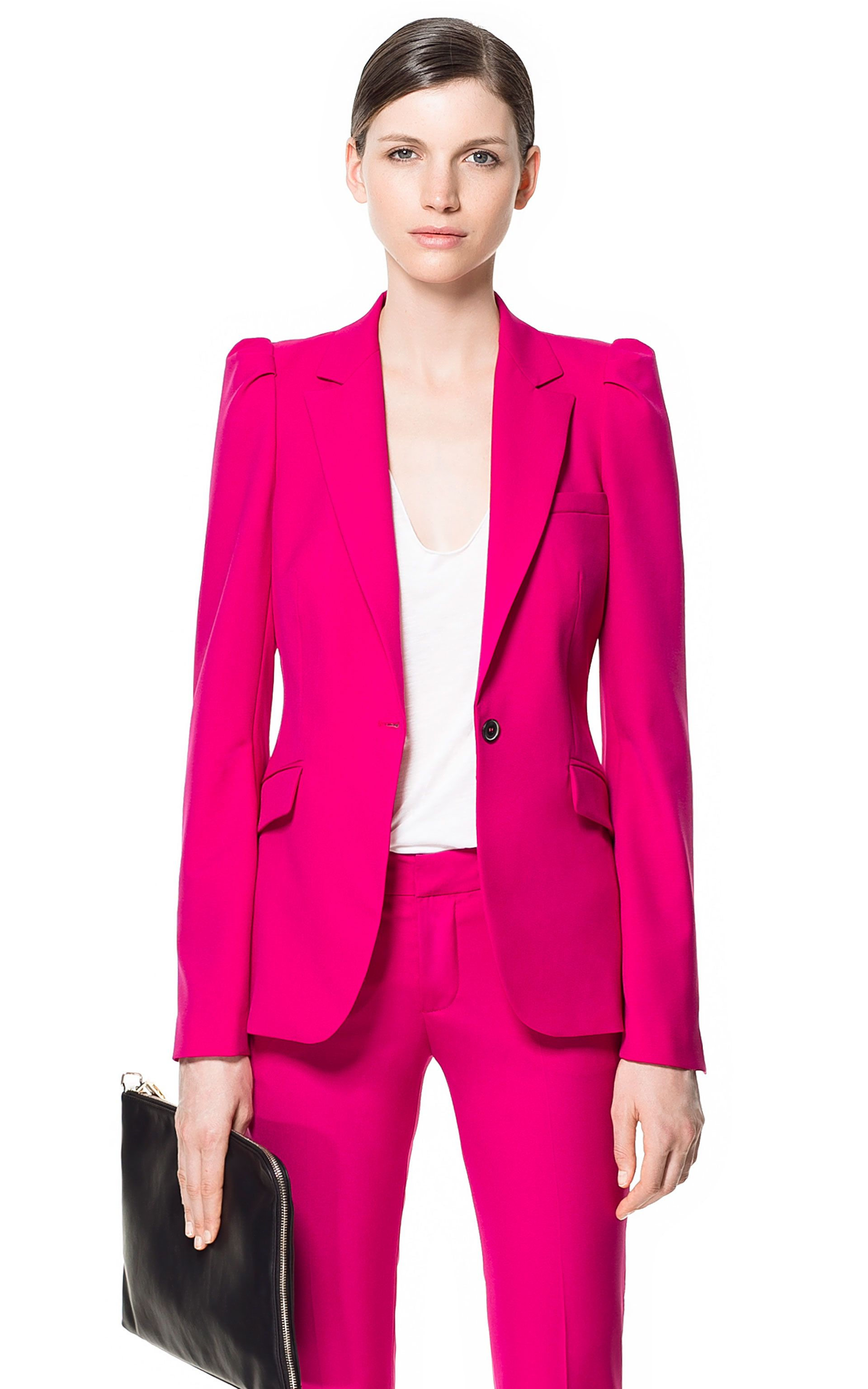 91d02b5f BLAZER WITH PUFFED SHOULDERS - Blazers - Woman - ZARA United States ...