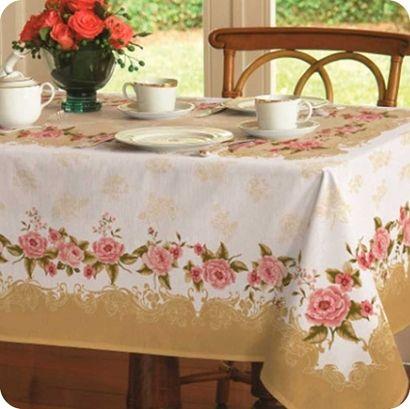 Toalha de Mesa Helena. O clássico , o elegante e o moderno, em uma só toalha de mesa.