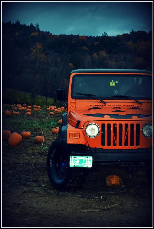 Halloween Jeep O Lantern Orange Jeep Orange Jeep Wrangler Jeep