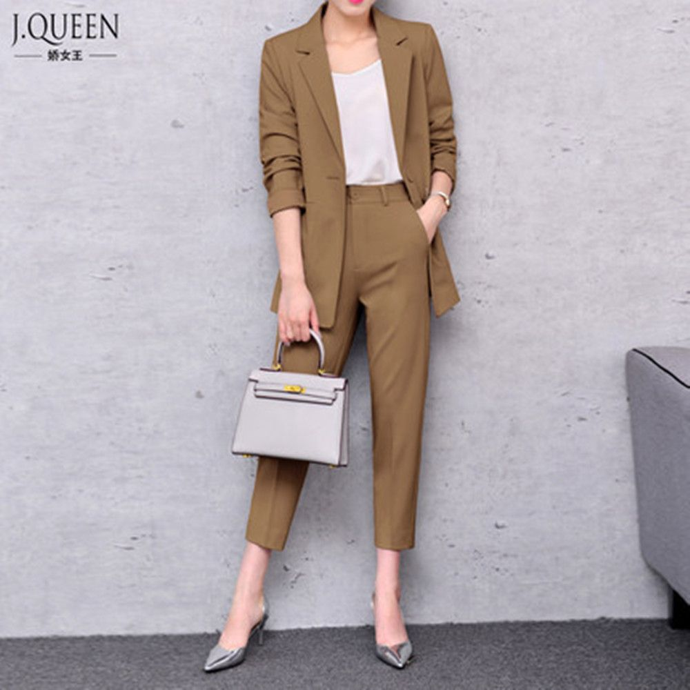 Office Suits For Women 2017 Spring Pant Trouser Suit Pantsuit With Jacket Business Formal Fashion J17ct0020