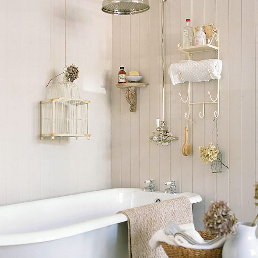 70 Stunning Shabby Chic Bathroom Decor Ideas | Chic bathrooms and Shabby