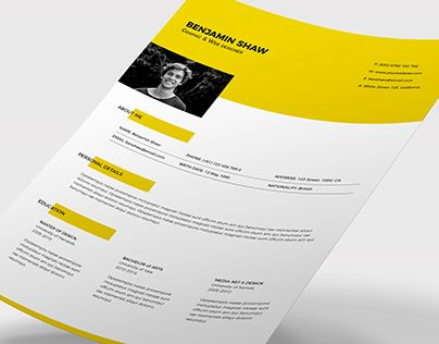 Check Out New Work On My Behance Portfolio Polaris Resume