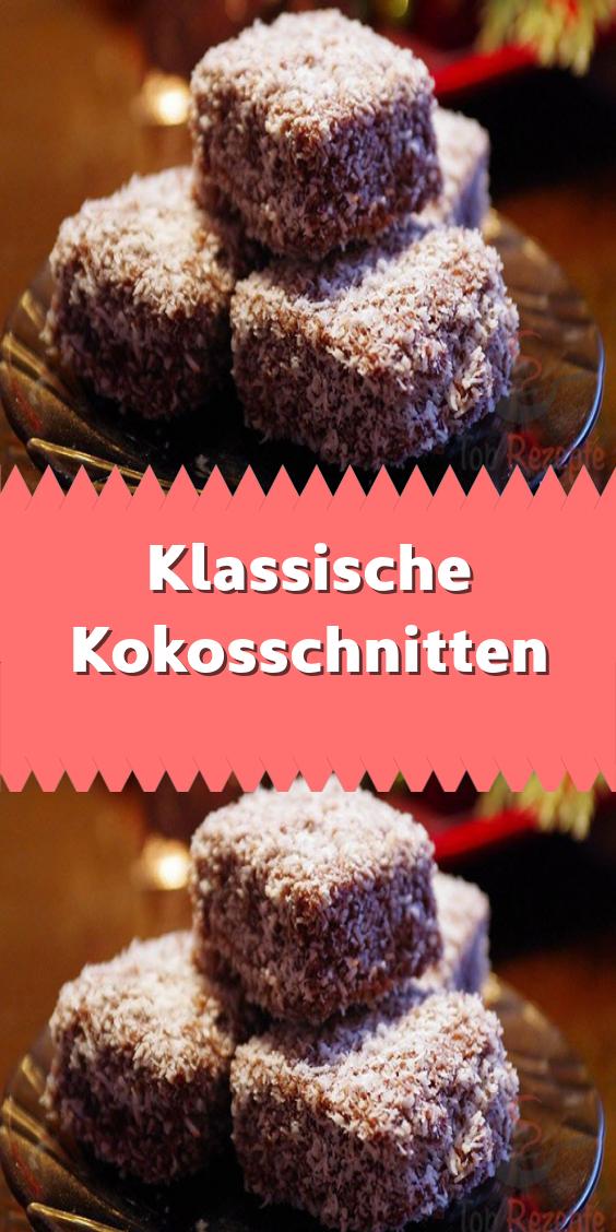 Klassische Kokosschnitten #sliceandbakecookieschristmas