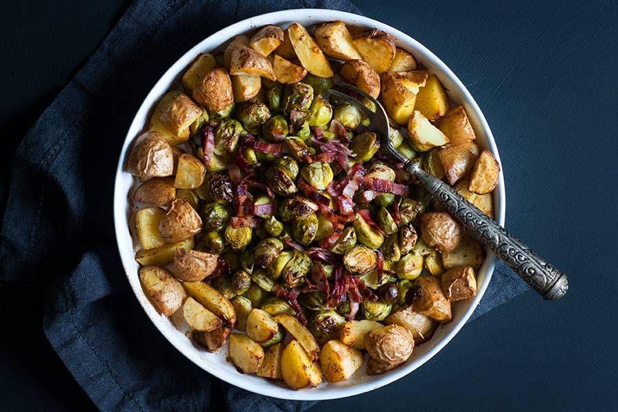 Gerösteter Rosenkohl mit Kartoffeln aus dem Ofen #kartoffelnofen