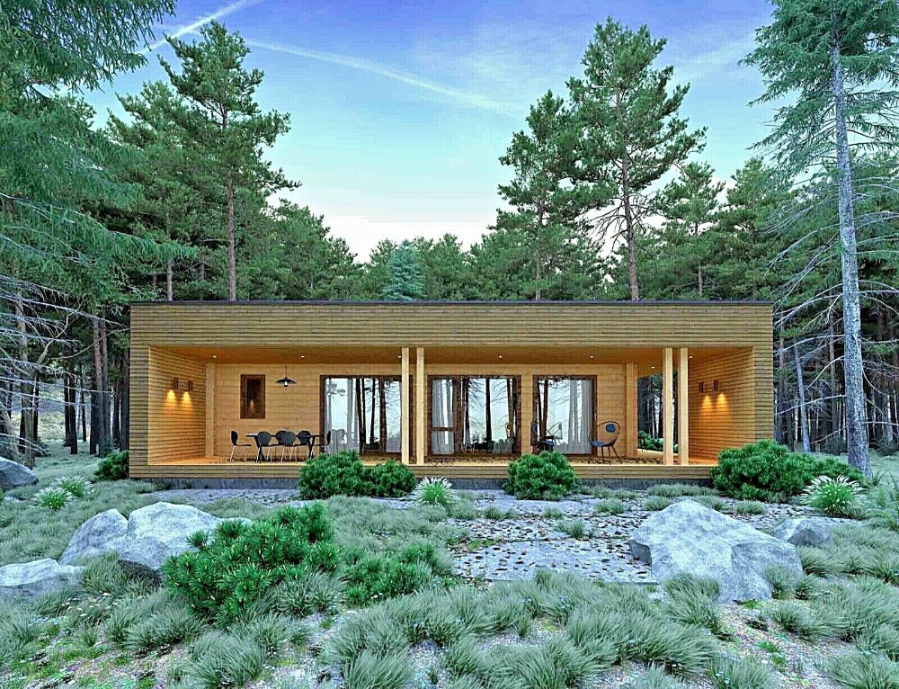 Log House Kit Eco Friendly Wood Prefab Diy Building Cabin Home