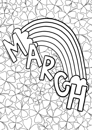 March Rainbow Coloring Sheet Donuts And Drama Coloring Pages Summer Coloring Sheets Spring Coloring Pages