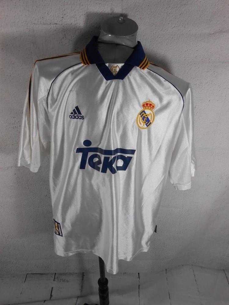 b30678dd7 Real Madrid CF Teka Mens L adidas Football Jersey VTG Official Replica  Ronaldo (eBay Link)