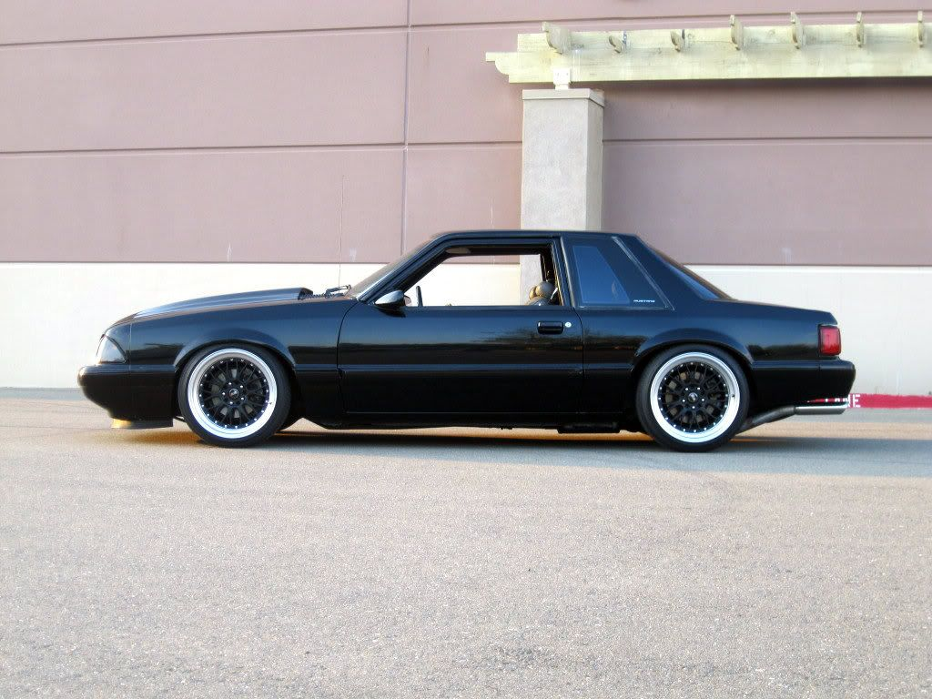 Stanced foxbody notchback mustang stanceworks