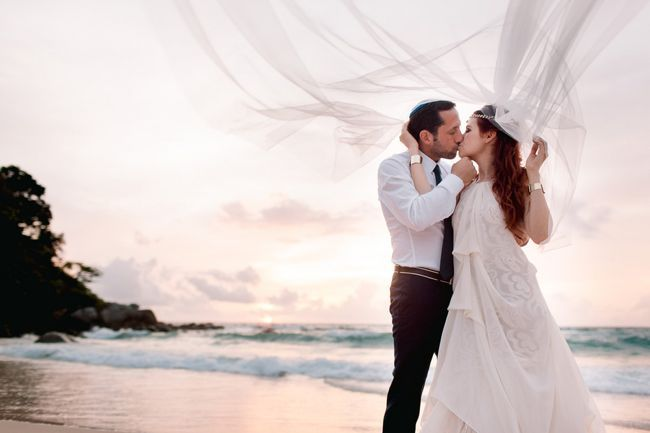 Real Wedding // Blissful Beachfront Wedding Ceremony Thailand // Hilary Cam Photography The picturesque island of Phuket was their destination, the secluded beach of Kata Noi Bay was to be their dreamy big day setting.