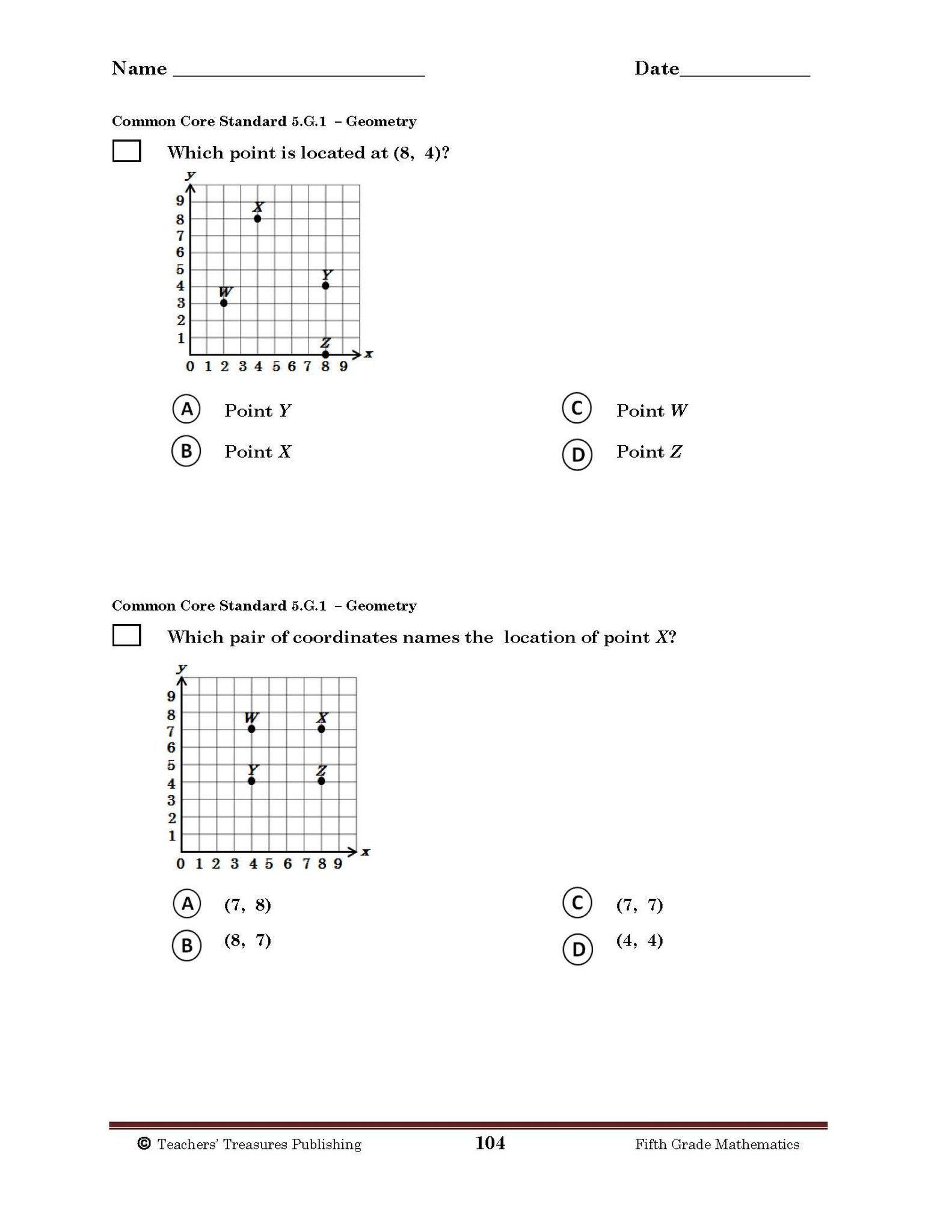 5th Grade Tennessee Common Core Math