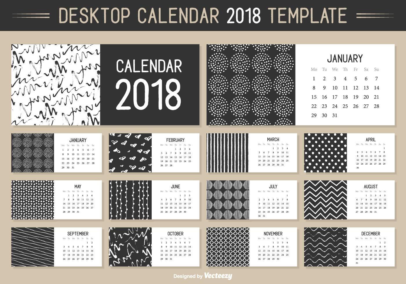Colección de plantillas de calendarios en vector y que podrás ...