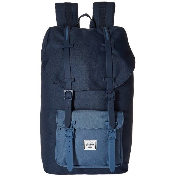 bba001361821 Herschel Supply Co. Little America (Navy Captain s Blue Navy... ( 100) ❤  liked on Polyvore featuring bags