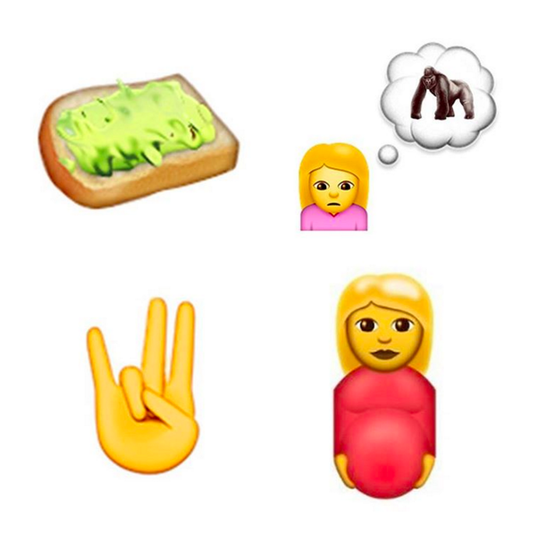 loving these new emojis avocado toast girl who can t stop thinking