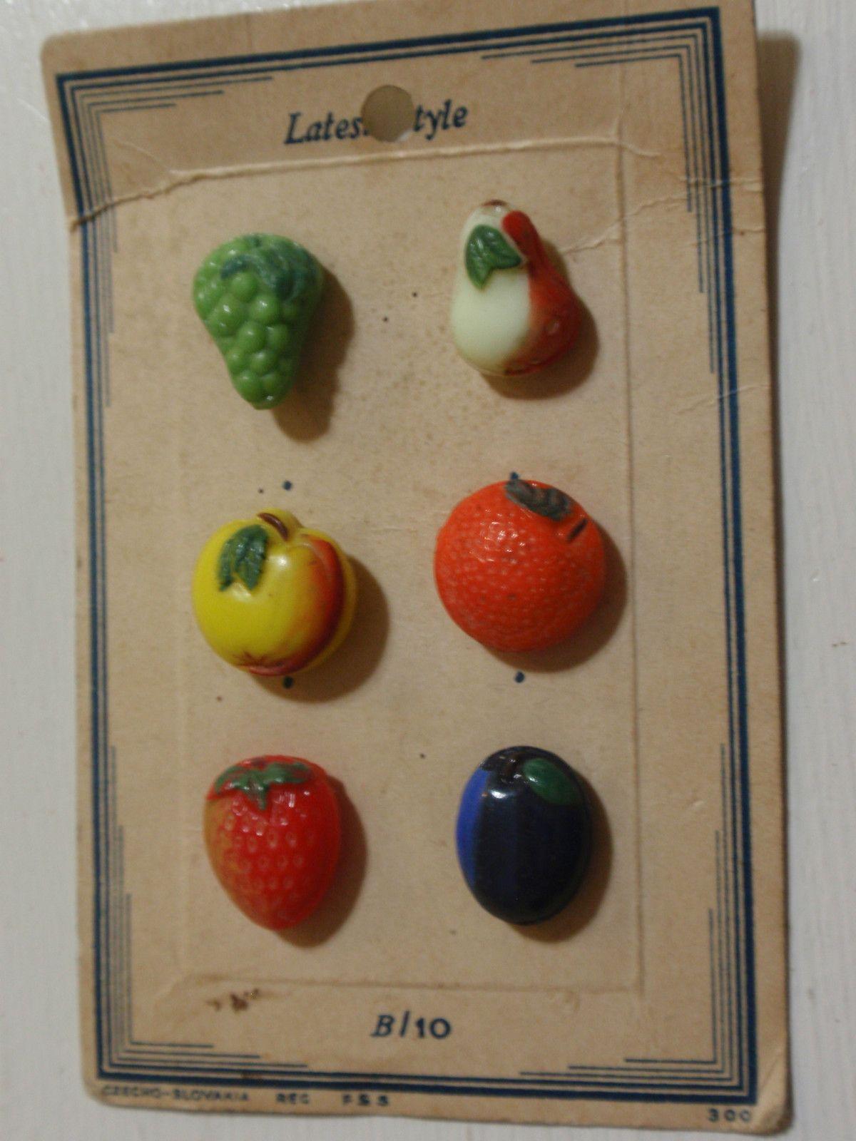 Vintage Beautiful Glass Fruit